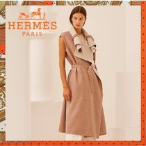 HERMES《Manteau sans manches col rouleau》ロングコート