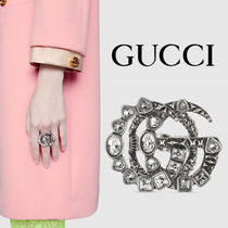GUCCI グッチ Crystal Double G ring【送料0/国内即発】