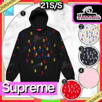 21SS /Supreme Embroidered S Hooded Sweatshirt Sロゴ パーカー