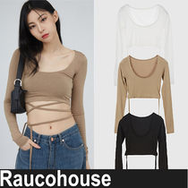 ★RAUCOHOUSE★『日本未入荷』 silhouette line cropped top