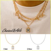 Chained & Able(チェーンドアンドエイブル) ネックレス・チョーカー 送料関税込【Chained&Able】CLEAR STONE DETAIL ペンダント(2色)