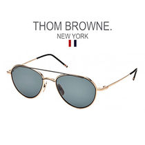 【 THOMBROWNE  】TB-109-A-T-GLD-BLK-53-Z サングラス