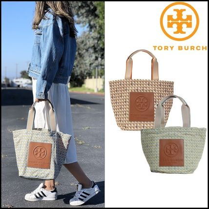 即発 Tory Burch★PRINTED NYLON SMALL TOTE 82288