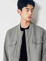 8seconds 21SS Gray Linen Blended Hidden Zip-Up Jacket