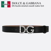 Dolce & Gabbana DG buckle-detailed smooth leather belt
