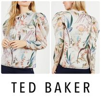 【TED BAKER】Aangeli Floralパフスリーブ リボンタイ ブラウス