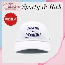 関税送料込★Sporty & Rich★Health is Wealth キャップ
