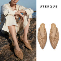 【Uterque】BRAIDED LEATHER MULE
