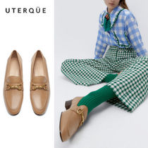Uterque(ウテルケ) フラットシューズ 【Uterque】LEATHER MOCCASIN WITH LINK HEEL