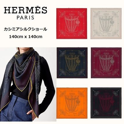 HERMESカレジェアンカシミアシルク《Brandebourgs Points》