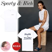 関税送料込★Sporty & Rich★Health is Wealth Tシャツ