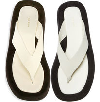 ● The Row Ginza Leather Thong Sandals ●Natural - Black