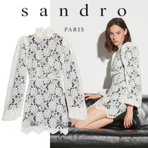 【sandro】 Mini dress in lace