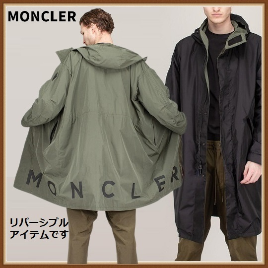 21SS【MONCLER】COFFRE リバーシブル メンズ ナイロンコート (MONCLER/コートその他) 0911D7037054A9174S