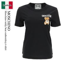 Moschino(モスキーノ) Tシャツ・カットソー Moschino teddy bear embroidery t-shirt