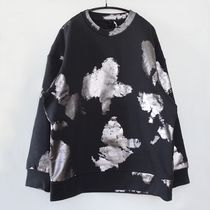 """COS"" PRINTED COTTON SWEATSHIRT GRAY/SILVER"