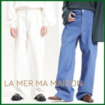 人気商品!【LA MER MA MAISON】PT04-WIDE TUCK DENIM PANTS/2色