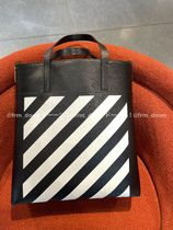 【Off-White】2021SS新作 DIAGONALS LEATHER TOTE/ ストラップ付