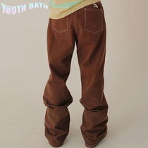 ★YOUTHBATH★COTTON WIDE PANTS_BROWN★正規品/韓国直送料込