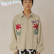 ★YOUTHBATH★OVER-FIT SHORT SHIRTS_FLOWER MINT★正規品/人気