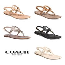 【COACH】Women's Jeri Leather Sandals*サンダル