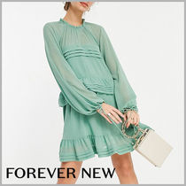 FOREVER NEW(フォーエバーニュー) ワンピース 【FOREVER NEW】関送込☆ふんわり袖 ティアードフリルワンピース