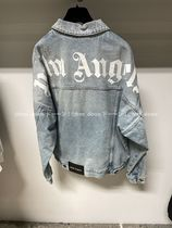 【Palm Angels】2021SS新作 LOGO DENIM JACKET (ライトブルー)