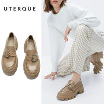 【Uterque】FLOOR LOAFER TRACK JEWELED BUCKLE
