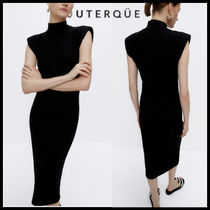 【Uterque】KNITTED SHOULDER DRESS