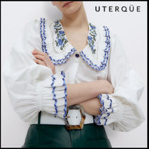 【Uterque】EMBROIDERED NECK SHIRT