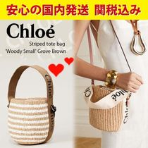 関税送料込国内発送★CHLOE Small Woody basket in fair trade