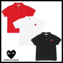 COMME des GARCONS(コムデギャルソン) キッズ用トップス ★COMME des GARCONS play kids★ハートロゴコットンポロシャツ