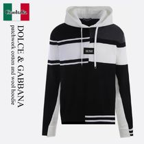 Dolce & Gabbana patchwork cotton and wool hoodie