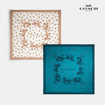 COACH コーチ Horse And Carriage 100%シルク スカーフ