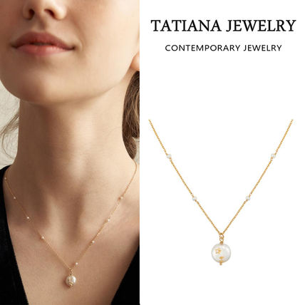 【TATIANA】[14k gold filled] Mignon Pearl Point Necklace