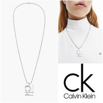 UK発★CALVIN KLEIN 21SS新作♪CKエンボス ネックレス Sliver