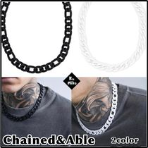 【Chained&Able/送料無料】CHUNKY CHAIN ネックレス 2color