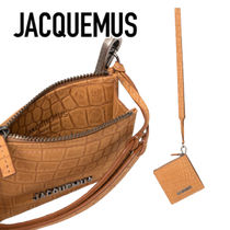 JACQUEMUS★Le Pitchou Carre クロコ型コインケース★関税送料込
