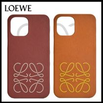 LOEWE☆Brand phone cover in calfskin for iPhone 12 Pro Max