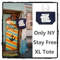 ONLY NY(オンリーニューヨーク) トートバッグ 新作★ONLY NY★Stay Free XL Tote コットン ロゴトートバック