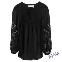 BLOUSE WITH GUIPURE
