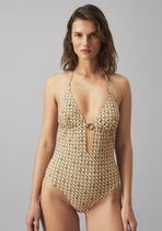 Tory Burch PRINTED RING ONE-PIECE SWIMSUIT