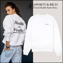2021SS新作【Sporty&Rich】Health is Wealth クルーネック 白