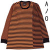★AJOBYAJO★Stripe Mixed Long Sleeve [Orange]★正規品/人気