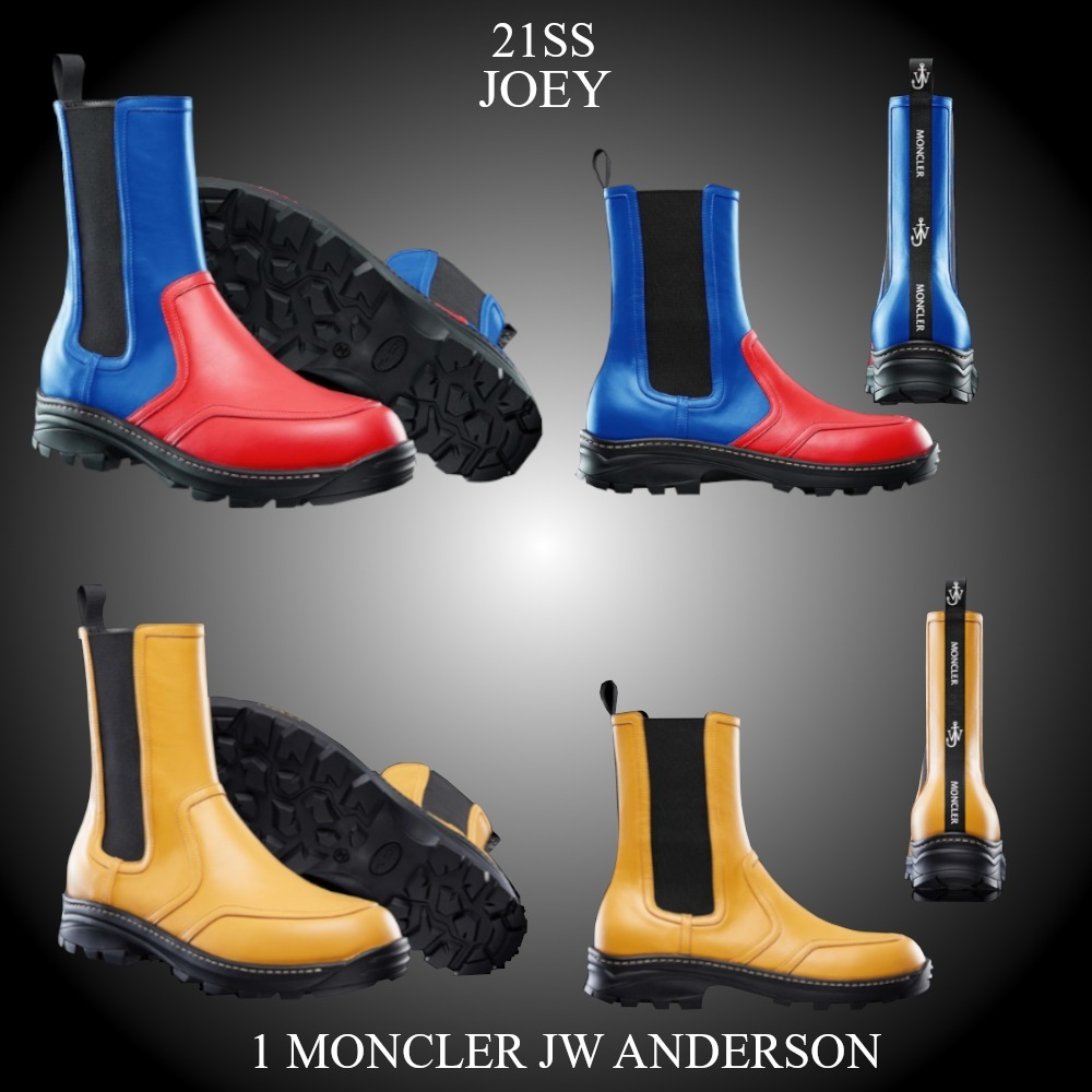 21SS★新作★1 MONCLER JW ANDERSON★JOEY レザー製ブーツ (MONCLER/ブーツ) 66562350
