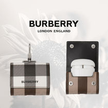 【Burberry】チェック Eキャンバス AirPods Proケース