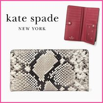 新作!! ☆kate spade☆ eva exotic large slim bifold wallet
