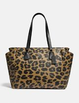 Coach(コーチ) マザーズバッグ COACH☆ Baby Bag With Leopard Print マザーバック