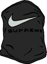 SS21 SUPREME NIKE NECK WARMER BLACK 黒 ネック ウォーマー