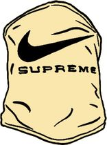 SS21 SUPREME NIKE NECK WARMER PALE YELLOW ネック ウォーマー